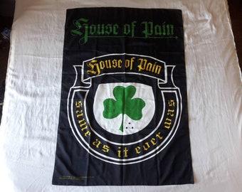 Vintage 1995 House of Pain Poster Flag Vtg 90s 1990s Hip Hop Rap Cypress Hill Everlast Dog Eat Dog Scary Eire