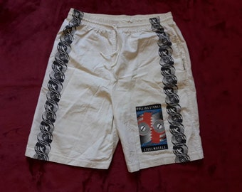 Vintage 1989 Rolling Stones Tour Shorts . Vtg 80s 1980s Heavy Metal Rock Black Sabbath Budgie