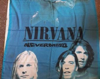 Vintage 1992 Nirvana Flag . Vtg 90s 1990s Grunge L7 Tad Dinosair Jr Sonic Youth