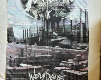 Vintage 1993 Obituary Flag . Vtg 90s 1990s Death Doom Metal Relapse Records Death Deicide