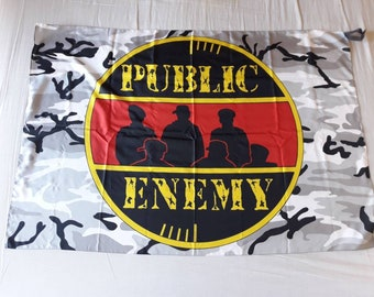 Vintage 1993 Public Enemy Flag Vtg 90s 1990s Hip Hop Rap Notorious BIG Dr Dre Flava Snoop Ice T 2Pac Chuck D Rage Against The Machine