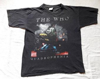 Vintage 1997 The Who Tour Tee . Vtg 90s 1990s Rock Concert T Shirt Rolling Stones Led Zeppelin