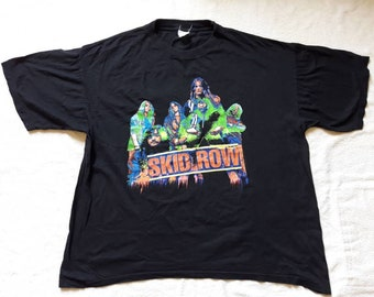 Vintage 1995 Skid Row Tour T Shirt Vtg 90s 1990s Heavy Metal Concert Tshirt Tee Metallica Motley Crue Motorhead Faith No More Alice Chains