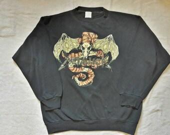 Vintage Rare 1992 Metallica Sweater Vtg 90s 1990s Thrash Metal Crewneck Megadeth Anthrax Slayer Testament Suicidal Sweatshirt