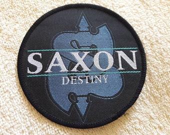 Vintage 1988 Saxon Patch . Vtg 80s 1980s Heavy Metal NWOBHM Motorhead Def Leppard