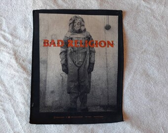 Vintage Thrashed 1995 Bad Religion Back Patch Vtg 90s 1990s Hardcore Punk Sex Pistols Rancid GBH Dr and the Crippins Backpatch UK Subs