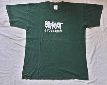 Vintage 1999 Slipknot Tee Vtg 1990s 90s Heavy Thrash Metal T Shirt Korn System of a Down Rammstein Limp Bizkit Metallica Ministry Gwar