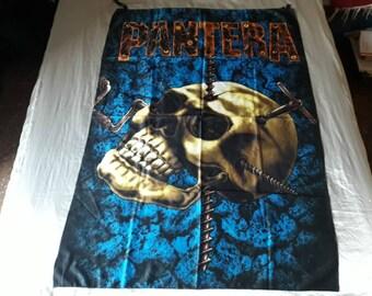 Vintage 1994 Pantera Poster Flag Vtg 90s 1990s Rap Thrash Metal Dimebag Sepultura Agnostic Front Mucky Pup Cro Mags Dog Eat Biohazard RATM