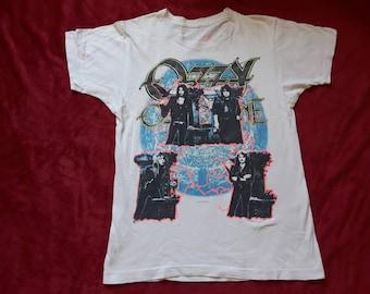 Vintage 1988 Ozzy Osbourne Tour Tee Vtg 80s 1980s Heavy Metal Concert Tee Black Sabbath Led Zeppelin Deep Purple Candlemass Judas Priest