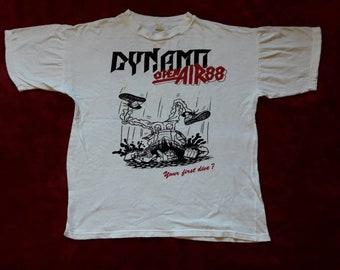 Vintage Rare 1988 Dynamo Open Air Festival T Shirt . Vtg 80s 1980s Thrash Metal Concert Tour Tee Sabbat Exodus Candlemass Laaz Rockit Toxik