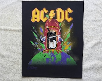 1989 AC/DC Back Patch. Vtg ACDC Heavy Metal Backpatch