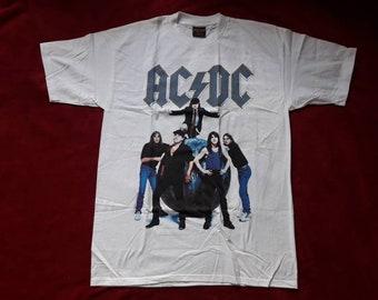 Vintage Rare 1996  AC/DC Tour T Shirt Vtg 90s 1990s Heavy Metal Concert Tee Tshirt Brockum ACDC Malcolm Young Guns n Roses Metallica Angus