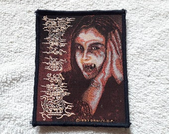 Vintage 1997 Cradle Of Filth Patch . Vtg 90s 1990s Death Doom Metal Cannibal Corpse Carcass Dismember Napalm Death