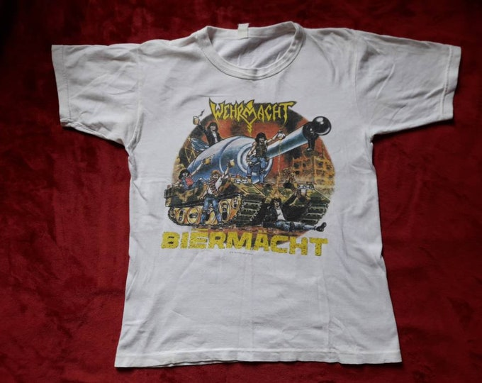 Featured listing image: Vintage Rare 1988 Wehrmacht T Shirt . Vtg 80s 1980s Crossover Thrash Metal Tee Tshirt Cro Mags D.R.I. Mucky Pup Cryptic Slaughter Leeway