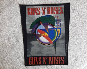 Vintage Rare 1992 Guns N Roses Back Patch Vtg 90s 1990s GNR Heavy Metal Backpatch Motley Crue Poison Cinderella Skid Row Metallica Extreme