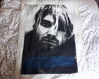 Vintage 1995 Kurt Cobain Poster Flag Vtg 90s 1990s Grunge L7 Tad Dinosaur Jr Sonic Youth Nirvana Hole Mudhoney Melvins