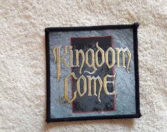 Vintage 1988 Kingdom Come Patch . Vtg 80s 1980s Heavy Metal NWOBHM Motorhead Def Leppard