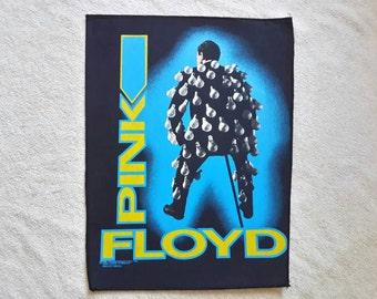 Vintage 1989 Pink Floyd Back Patch Backpatch Vtg 80s 1980s Heavy Metal Hard Rock BP Deep Purple Hawkwind Rolling Stones Queen David Bowie