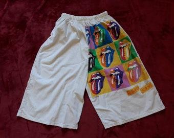 Vintage 1989 Rolling Stones Tour  Board Shorts . Vtg 80s 1989s Rock Heavy Metal Concert Led Zeppelin Pink Floyd