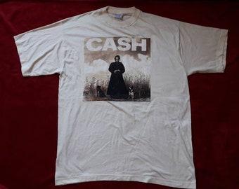 Vintage 1994 Johnny Cash Tour Tee Vtg 90s 1990s Rock n Roll Concert T Shirt Tshirt E Street Band Kenny Rogers Willie Nelson Frank Sinitra