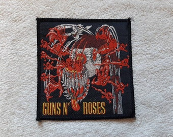 Vintage 1987 Guns N Roses Patch Vtg 80s 1980s Heavy Metal ACDC Metallica Faith No More Metallica Motley Crue Skid Row Poison Scorpions