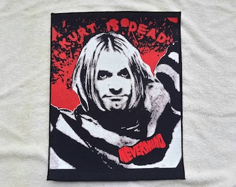 90's Dead-Stock Nirvana Back Patch. 1990s Grunge Kurt Cobain Mudhoney Alice In Chains Soundgarden Backpatch