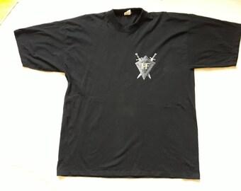 Vintage 1998 Hammerfall Tour T Shirt Vtg 90s 1990s Heavy Metal Concert Tee Tshirt Blind Guardian Judas Priest Arch Enemy Mannowar Savatage