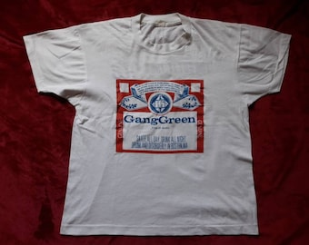 Vintage Rare 1988 Gang Green Tour T Shirt . Vtg 80s 1980s Crossover Thrash Metal Tee Tshirt Cro Mags D.R.I. Cryptic Slaughter Minor Threat