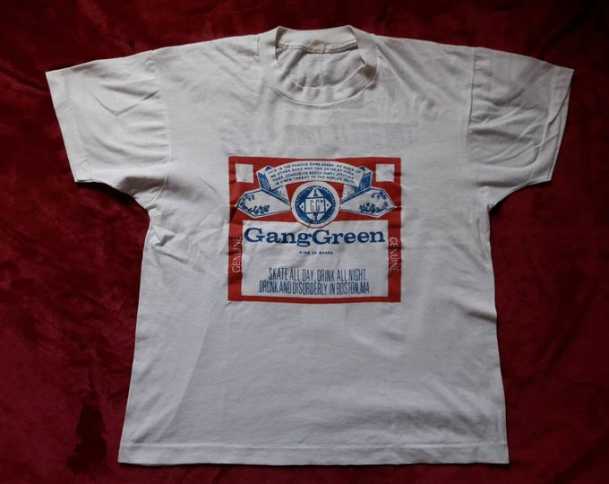 Featured listing image: Vintage Rare 1988 Gang Green Tour T Shirt . Vtg 80s 1980s Crossover Thrash Metal Tee Tshirt Cro Mags D.R.I. Cryptic Slaughter Minor Threat