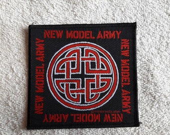 Vintage 1991 New Model Army Patch Vtg 90s 1990s Heavy Metal Hard Rock Sisters The Mission Fields Of The Nephilim Smiths Depeche Mode