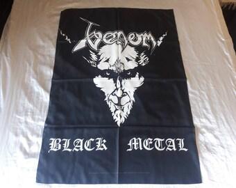 Vintage 1996 Venom Poster Flag Vtg 90s 1990s Black Death Metal Celtic Frost Bathory Mercyful Fate Exciter Burzum