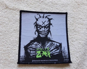 Vintage 1995 White Zombie Patch . Vtg 90s 1990s Heavy Alternative Groove Metal Ministry Nine Inch Nails