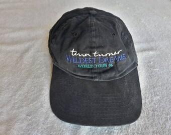 Vintage 1996 Tina Turner Tour Baseball Cap Vtg 90s 1990s Stevie Wonder Rod Stewart Diana Ross Madonna Dolly Parton