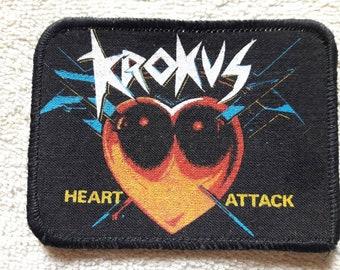 Vintage 1986 Krokus Patch. Vtg 80s 1980s Heavy Metal Saxon WASP