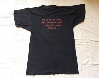 Vintage 1983 Psycho II Tee . Vtg 80s 1980s Slasher Horror Movie T Shirt Norman Bates