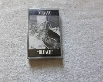 Vintage 1989 Nirvana Cassette Tape Vtg 80s 1980s Grunge Kurt Cobain Mudhoney Sub Pop Hole Breeders Dinosaur Jr Sonic Youth K7
