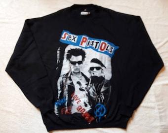 Vintage 1994 Sex Pistols Sweater . Vtg 90s 1990s Punk Rock Crewneck Exploited GBH