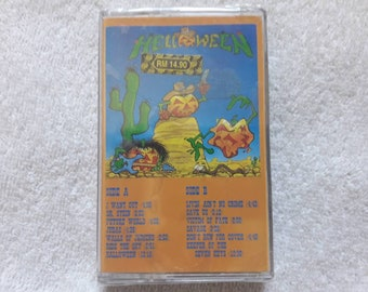 Vintage 1991 Helloween Cassette Vtg 90s 1990s Thrash Metal Tape K7 Overkill Anthrax Destruction Voivod Whiplash Megadeth Slayer Testament