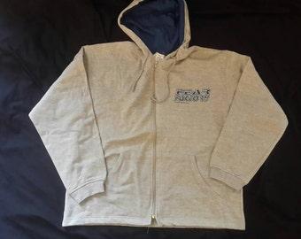 Vintage 1996 Fear Factory Hoodie Vtg 90s 1990s Thrash Nu Metal Sweatshirt Sweater Blue Grape Machine Head Sepultura Deftones Metallica