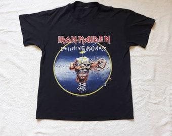 Vintage 1988 Iron Maiden T Shirt Vtg 1980s 80s Heavy Metal Tee Tshirt NWOBHM Powerslave Motorhead Judas Priest Saxon Led Zeppelin