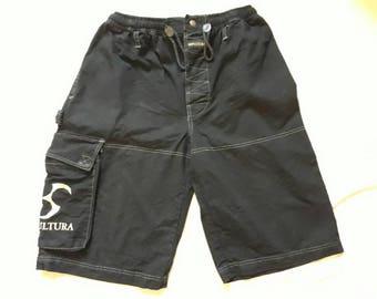 Vintage Rare 90s Sepultura Shorts . Vtg 1990s Thrash Metal  Blue Grape.