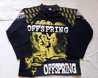 Vintage 1994 The Offspring Smash Sweater Vtg 90s 1990s Hardcore Pop Metal Punk Sweatshirt Pullover Green Day NOFX