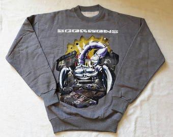 Vintage 1991 Scorpions Sweater Vtg 90s 1990s Heavy Glam Metal Crewneck Poison Motley Crue Whitesnake Aerosmith Def Leppard