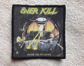 Vintage 1988 Overkill Patch . Vtg 80s 1980s Thrash Metal S.O.D. Helloween Anthrax Nuclear Assault