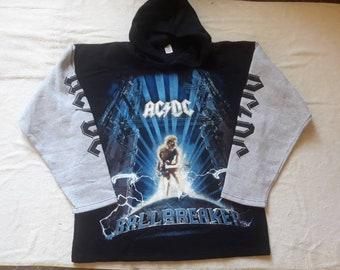 Vintage 1996 ACDC Hoodie Vtg 90s 1990s Heavy Metal Crewneck Motorhead Diamond Head Black Sabbath Helloween Overkill Ratt Accept Dokken