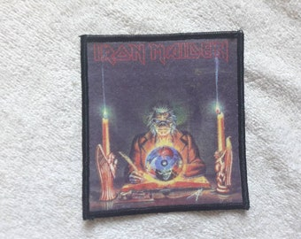 Vintage 1988 Iron Maiden Patch Vtg 80s 1980s Heavy Metal NWOBHM Motorhead Saxon Led Zeppelin Deep Purple Steve Harris Diamond Head Lizzy