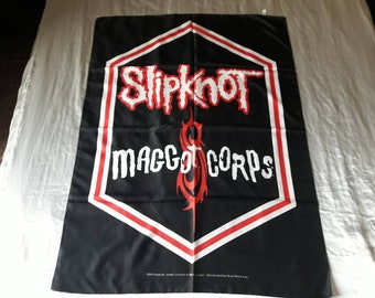 Vintage 2000 Slipknot Poster Flag Vtg 90s 1990s Nu Metal Fear Factory Machine Head Tool  Korn Linkin Park Nine Inch Nails Ministry