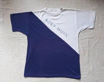 Vintage Rare 1983 Roxy Music Concert Tee . Vtg 80s 1980s Rock n Roll Tour T Shirt Talking Heads Bryan Ferry T Rex Spandau Ballet Ultravox