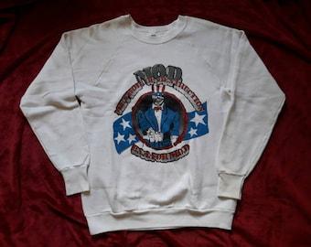 Vintage Rare 1988 M.O.D. Sweater Vtg 80s 1980s Thrash Metal Crewneck S.O.D. Method Of Destruction Brutal Truth Anthrax Nuclear Assault