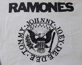 Rare Vintage 80's Ramones Long Sleeve T Shirt.
